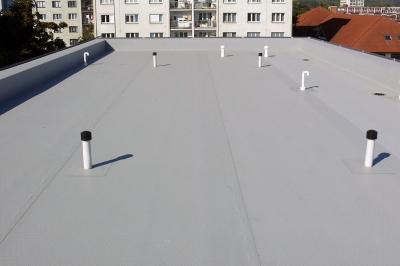 PVC folie - bytový dům v Kralupech nad Vltavou